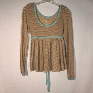 3 for $20 Free People Striped Baby Doll Tee M